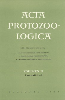 Acta Protozoologica, Vol. II, Fasc. 1-9