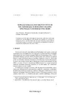 Nowa generacja past rezystywnych nie zawierających ołowiu i kadmu spełniających dyrektywę RoHS = The new generation of lead-free and cadmium-free resistive pastes in accordance with ROHS directive
