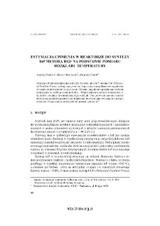 Estamacja ciśnień w reaktorze do syntezy InP metodą HGF na podstawie pomiaru rozkładu temperatury = Pressure estimation in quartz ampoule in during InP synthesis by HGF method, on the base temperature distribution measurement