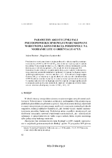 Parametry akustycznej fali pseudopowierzchniowej uwarunkowane warstwową konstrukcją podzespo łu na niobianie litu o orientacji 41oYX = PSAW parameters conditioned by multilayer structure of acoustic device on 41oYX LiNbO3