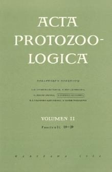 Acta Protozoologica, Vol. II, Fasc.19-29