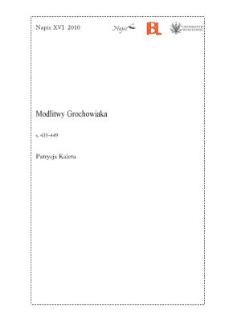 Modlitwy Grochowiaka