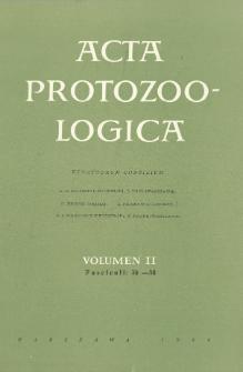 Acta Protozoologica, Vol. II, Fasc. 30-38