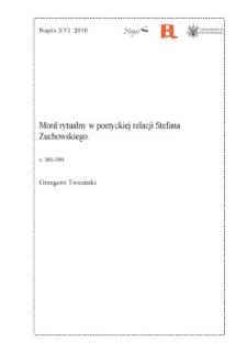 Mord rytualny w poetyckiej relacji Stefana Żuchowskiego
