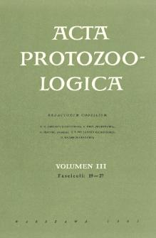Acta Protozoologica, Vol. III, Fasc. 19-27