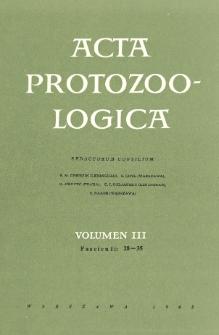 Acta Protozoologica, Vol. III, Fasc. 28-35