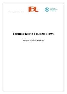 Tomasz Mann i cudze słowa