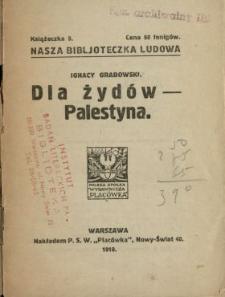 Dla żydów [!] - Palestyna