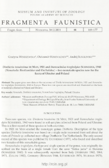 Dintheria tenuissima De Man, 1921 and Stenonchulus troglodytes Schneider, 1940 (Nematoda: Bastianiidae and Onchulidae) - two nematode species new for the fauna of Ukraine and Poland