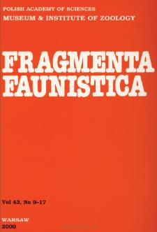 Fragmenta Faunistica - Strony tytułowe, spis treści - t. 43, nr. 9-17 (2000)