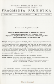 Notes on the unique structure of the spiracles and legs in Pandirodesmus disparipes Silvestri, 1932 (Diplopoda, Polydesmida, Chelodesmidae), with some possible implications concerning its mode of life
