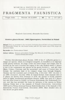 Formica glauca Ruzsky, 1895 (Hymenoptera, Formicidae) in Poland