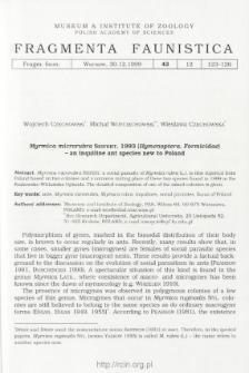 Myrmica microrubra Seifert, 1993 (Hymenoptera, Formicidae) - an inquiline ant species new to Poland
