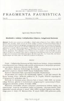 Muchówki z rodziny Calliphoridae (Diptera, Calyptrata) Roztocza