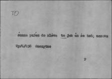 Kartoteka Słownika Gwar Ostródzkiego, Warmii i Mazur, To3