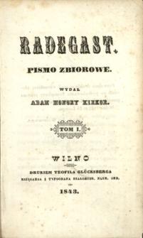 Radegast : pismo zbiorowe 1843