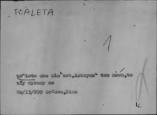 Kartoteka Słownika Gwar Ostródzkiego, Warmii i Mazur, Toaleta - Trzustka