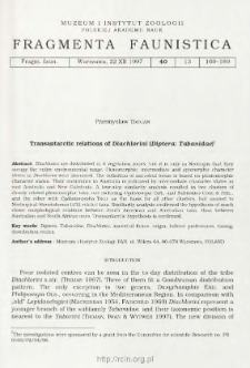 Transantarctic relations of Diachlorini (Diptera: Tabanidae)