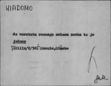 Kartoteka Słownika Gwar Ostródzkiego, Warmii i Mazur, Wiadomo - Wierzbowy
