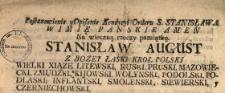 Postanowienie y Opisanie Kondycyi Orderu S. Stanisława [...] : Na wieczną rzeczy pamiątkę