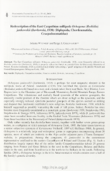 Redescription of the East Carpathian millipede Ochogona (Beskidia) jankowskii (Jawłowski, 1938) (Diplopoda, Chordeumatida, Craspedosomatidae)