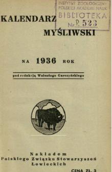 Kalendarz Myśliwski : na ... rok