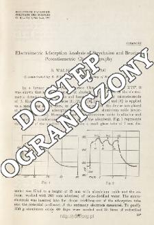 Electrometric Adsorption Analysis of Strychnine and Brucine Potentiometric Chromatography