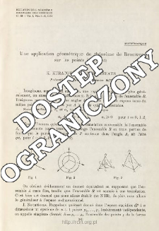 Une application géométrique du théorème de Brouwer sur les points invariants