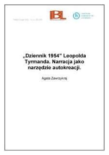 """"""" Dziennik 1954"""" Leopolda Tyrmanda. Narracja jako narzędzie autokreacji"""