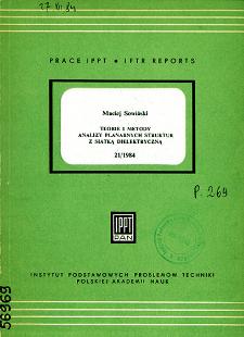 Teorie i metody analizy planarnych struktur z siatką dielektryczną