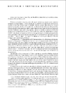 Kultura funeralna ziemi wschowskiej, red. P. Klint, M. Małkus, K. Szymańska : [recenzja]