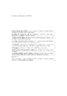 Fragmenta Faunistica - Spis treści vol. 52, no. 1