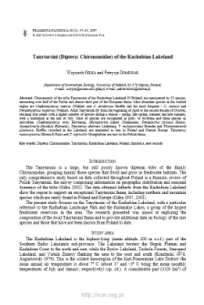 Tanytarsini (Diptera: Chironomidae) of the Kashubian Lakeland