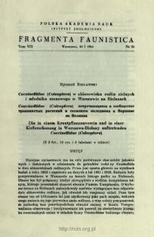 Biedronki (Coleoptera, Coccinellidae) Bieszczadów
