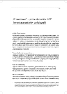 """""""W soczewce"""" – prace studentów ASP.Komentarze autorów do fotografii"""