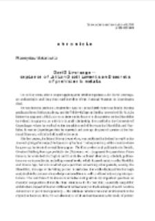 David Liversage - explored Jutland settlements and secrets of prehistoric metals = David Liversage - badacz jutlandzkich osad i tajemnic prehistorycznych metali :[kronika]
