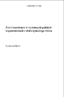 Żart i autoironia w wybranych polskich wspomnieniach z dziewiętnastego wieku