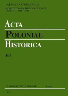Acta Poloniae Historica T. 104 (2011), Reviews