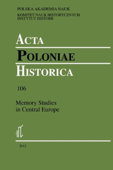 Acta Poloniae Historica. T. 106 (2012), Title pages, Contents