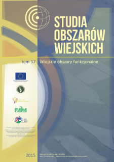 Wiejskie Obszary Funkcjonalne – próba metodyczna wyznaczenia ich obszarów i granic = Rural functional areas – methodical attempt of determining their areas and boundaries
