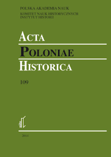 Acta Poloniae Historica. T. 109 (2014), Reviews