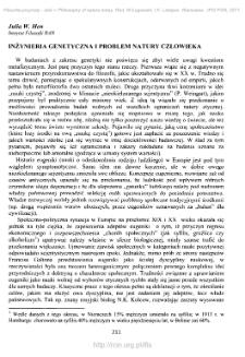 Inżynieria genetyczna a problem natury człowieka