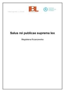 Salus rei publicae suprema lex