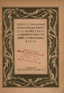 Fantazja Almayera = Almayer's folly : opowieść o Wschodniej Rzece