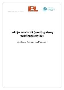 Lekcje anatomii (według Anny Wieczorkiewicz)