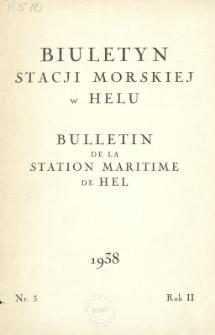 Biuletyn Stacji Morskiej w Helu = Bulletin de la Station Maritime de Hel, Nr 3, Rok II