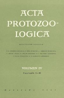 Acta Protozoologica, Vol. IV, Fasc. 1-10