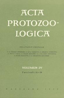 Acta Protozoologica, Vol. IV, Fasc.11-18