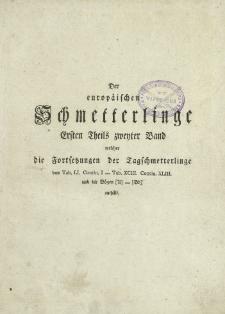 Der europaischen Schmetterlinge. T. 1, cz. 2