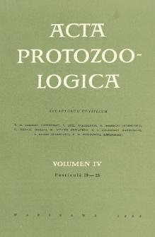 Acta Protozoologica, Vol. IV, Fasc. 19-25